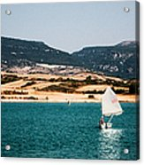 Kid Sailing On A Lake Acrylic Print