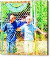 Kids And The Train 2 Acrylic Print