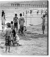 Kids At Beach Acrylic Print