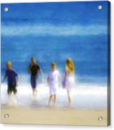 Kids At The Beach Acrylic Print