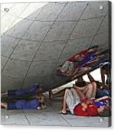 Kids At The Bean Acrylic Print