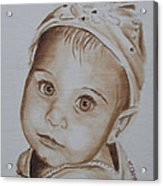 Kids In Hats - Isabella Acrylic Print