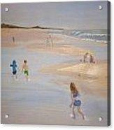 Kids On The Beach Acrylic Print
