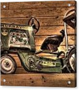 Kids Toy Pedal Tractor On Shelf Acrylic Print