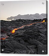 Kilauea Volcano 60 Foot Lava Flow - The Big Island Hawaii Acrylic Print