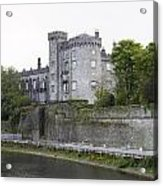 Kilkenny Castle Seen From River Nore Acrylic Print