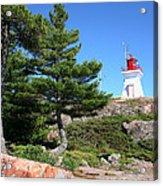 Killarney Lighthouse On The Rocks  Acrylic Print