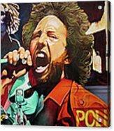 Zack De La Rocha-killing In The Name  Acrylic Print