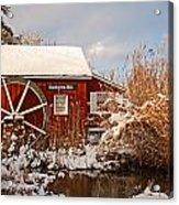 Kimberton Mill After Snow Acrylic Print