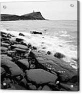 Kimmeridge Bay In Black And White Acrylic Print