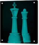 King And Queen In Turquois Acrylic Print
