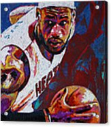 King James Acrylic Print by Maria Arango