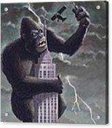 King Kong Plane Swatter Acrylic Print by Martin Davey