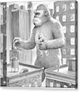 King Kong Stands In A Large City Acrylic Print
