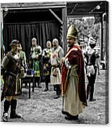 King Macbeth Of Scotland With The Bishop Acrylic Print