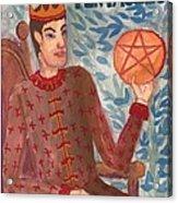 King Of Pentacles Acrylic Print