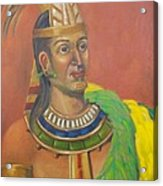 King Topiltzin Acrylic Print by Lilibeth Andre