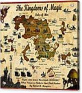 Kingdoms Of Magic Battle Map Acrylic Print