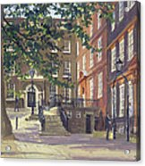 Kings Bench Walk, Inner Temple Oil On Canvas Acrylic Print