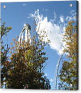 Kings Dominion - Hypersonic Xlc - 12121 Acrylic Print by DC Photographer