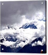 Kinner Kailash Hills- Himachal Pradesh- Viator's Agonism Acrylic Print by Vijinder Singh