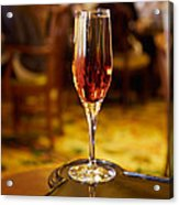 Kir Royale In A Champagne Glass Acrylic Print