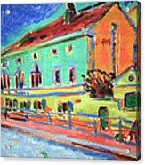 Kirchner's Houses In Dresden Acrylic Print