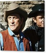 Kirk Douglas Johnny Cash A Gunfight  Old Tucson Arizona 1971 Acrylic Print