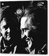 Kirk Douglas Laughing Johnny Cash Old Tucson Arizona 1971 Acrylic Print