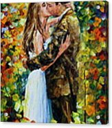 Kiss In The Woods Acrylic Print