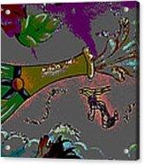 Kiss Me Hot Stuf Posterized Acrylic Print