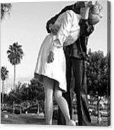 Kissing Sailor And Nurse Acrylic Print