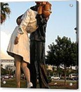 Kissing Sailor At Dusk - The Kiss Acrylic Print