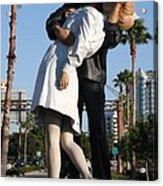 Kissing Sailor - The Kiss - Sarasota Acrylic Print