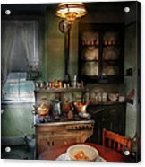 Kitchen - 1908 Kitchen Acrylic Print by Mike Savad