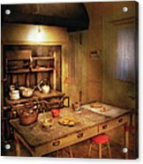 Kitchen - Granny's Stove Acrylic Print by Mike Savad