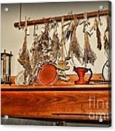 Kitchen - Herbs Drying Over The Mantel Acrylic Print