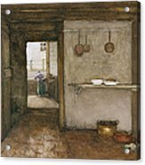 Kitchen Interior, C.1899 Acrylic Print