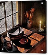 Kitchen - On A Table II  Acrylic Print by Mike Savad