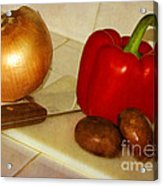 Kitchen Prep Acrylic Print