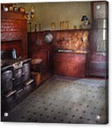 Kitchen - Storybook Cottage Kitchen Acrylic Print by Mike Savad