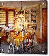 Kitchen - Typical Farm Kitchen  Acrylic Print by Mike Savad