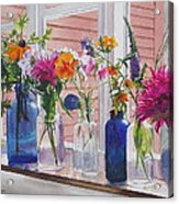Kitchen Window Sill Acrylic Print by Karol Wyckoff