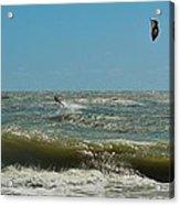 Kite Boarding Hatteras 3 8/24 Acrylic Print