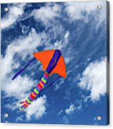 Kite Flying In Sky Acrylic Print