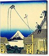 Kite Flying Over Mount Fuji Acrylic Print