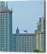 Kite Over Moscow University In Moscow-russia Acrylic Print