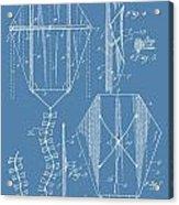 Kite Patent On Blue Acrylic Print