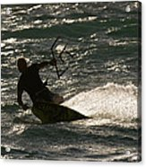 Kite Surfer 03 Acrylic Print by Rick Piper Photography