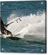 Kite Surfer 04 Acrylic Print by Rick Piper Photography